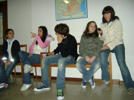 Veronica, Ilaria, Edoardo, Angela e Irene